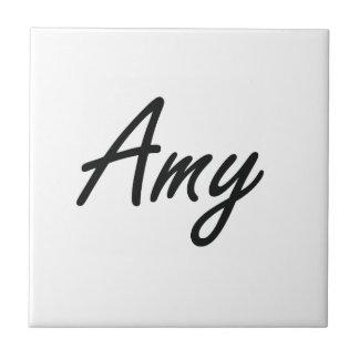 Diseño conocido artístico del Amy Azulejo Cuadrado Pequeño