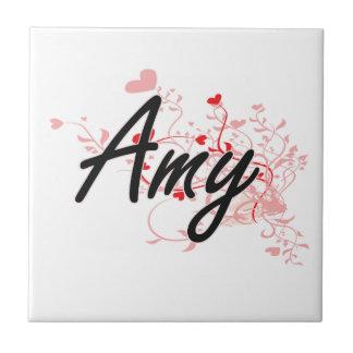 Diseño conocido artístico del Amy con los Azulejo Cuadrado Pequeño
