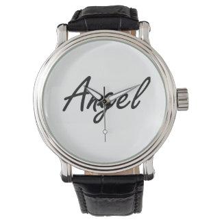 Diseño conocido artístico del ángel reloj de mano