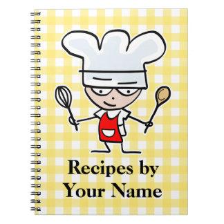 Diseño conocido personalizado del cocinero del cua cuaderno