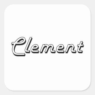 Diseño conocido retro clásico clemente pegatina cuadrada