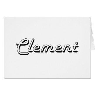 Diseño conocido retro clásico clemente tarjeta de felicitación