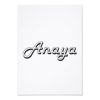 """Diseño conocido retro clásico de Anaya Invitación 5"""" X 7"""""""