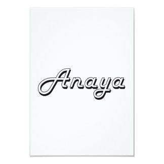 """Diseño conocido retro clásico de Anaya Invitación 3.5"""" X 5"""""""