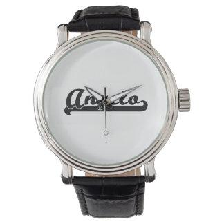 Diseño conocido retro clásico de Ángel Reloj