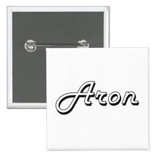 Diseño conocido retro clásico de Aron Pin Cuadrada 5 Cm