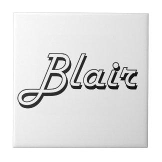 Diseño conocido retro clásico de Blair Azulejo Cuadrado Pequeño