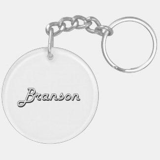 Diseño conocido retro clásico de Branson Llavero Redondo Acrílico A Doble Cara