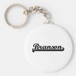 Diseño conocido retro clásico de Branson Llavero Redondo Tipo Pin