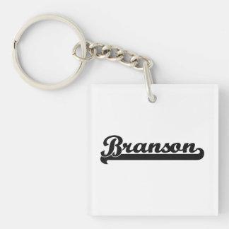 Diseño conocido retro clásico de Branson Llavero Cuadrado Acrílico A Una Cara