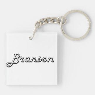 Diseño conocido retro clásico de Branson Llavero Cuadrado Acrílico A Doble Cara