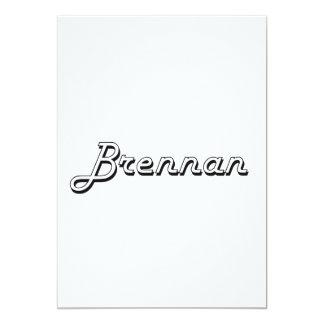 """Diseño conocido retro clásico de Brennan Invitación 5"""" X 7"""""""
