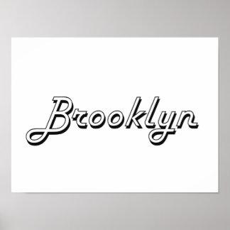 Diseño conocido retro clásico de Brooklyn Póster