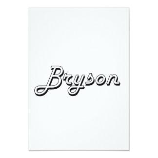 """Diseño conocido retro clásico de Bryson Invitación 3.5"""" X 5"""""""