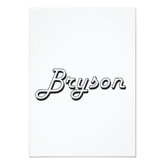 """Diseño conocido retro clásico de Bryson Invitación 5"""" X 7"""""""