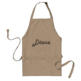 Diseño conocido retro clásico de Diana Delantal