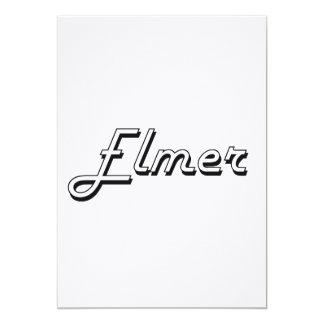Diseño conocido retro clásico de Elmer Invitación 12,7 X 17,8 Cm