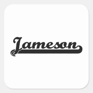 Diseño conocido retro clásico de Jameson Pegatina Cuadrada