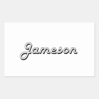 Diseño conocido retro clásico de Jameson Pegatina Rectangular