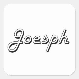 Diseño conocido retro clásico de Joesph Pegatina Cuadrada