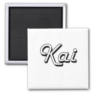 Diseño conocido retro clásico de Kai Imán Cuadrado
