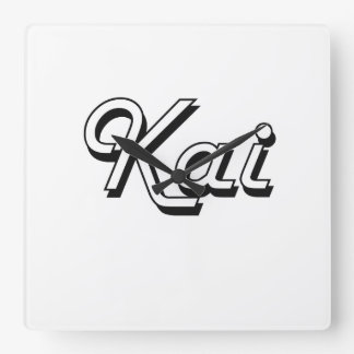 Diseño conocido retro clásico de Kai Reloj Cuadrado