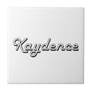 Diseño conocido retro clásico de Kaydence Azulejo Cuadrado Pequeño