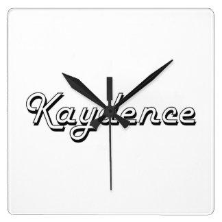 Diseño conocido retro clásico de Kaydence Reloj Cuadrado