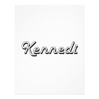 Diseño conocido retro clásico de Kennedi Folleto 21,6 X 28 Cm