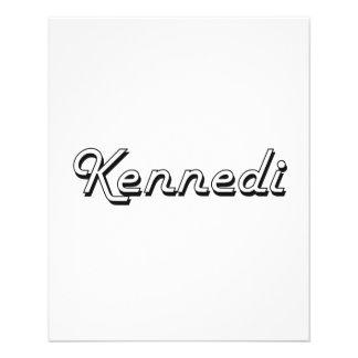 Diseño conocido retro clásico de Kennedi Folleto 11,4 X 14,2 Cm