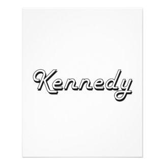 Diseño conocido retro clásico de Kennedy Folleto 11,4 X 14,2 Cm
