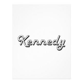 Diseño conocido retro clásico de Kennedy Folleto 21,6 X 28 Cm
