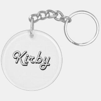 Diseño conocido retro clásico de Kirby Llavero Redondo Acrílico A Doble Cara