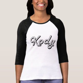 Diseño conocido retro clásico de Kody Tee Shirt