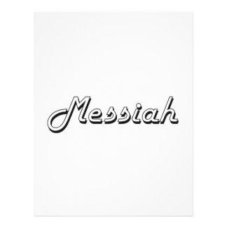 Diseño conocido retro clásico de las Mesías Folleto 21,6 X 28 Cm