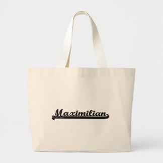 Diseño conocido retro clásico de Maximiliano Bolsa Tela Grande