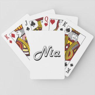 Diseño conocido retro clásico de Nia Baraja De Póquer