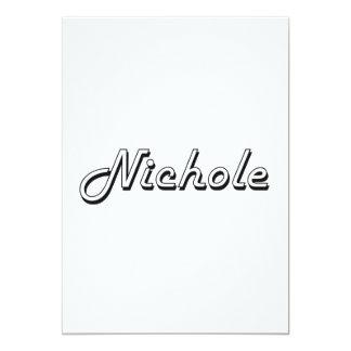 """Diseño conocido retro clásico de Nichole Invitación 5"""" X 7"""""""