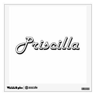 Diseño conocido retro clásico de Priscilla