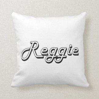 Diseño conocido retro clásico de Reggie Cojin