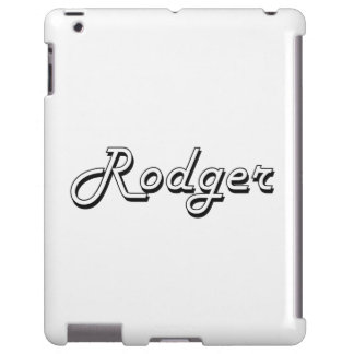 Diseño conocido retro clásico de Rodger Funda Para iPad