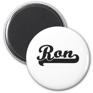 Diseño conocido retro clásico de Ron Imán Redondo 5 Cm