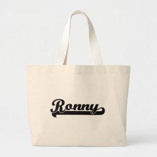 Diseño conocido retro clásico de Ronny Bolsa Tela Grande