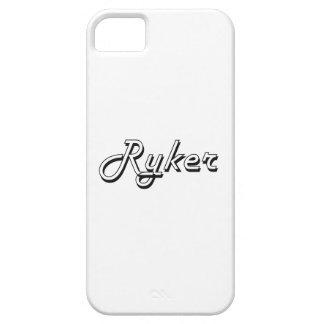 Diseño conocido retro clásico de Ryker iPhone 5 Case-Mate Protectores