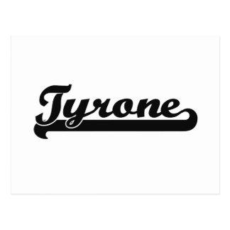 Diseño conocido retro clásico de Tyrone Postal