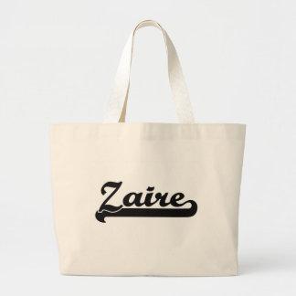 Diseño conocido retro clásico de Zaire Bolsa Tela Grande