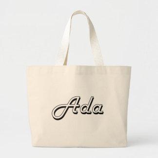 Diseño conocido retro clásico del Ada Bolsa Tela Grande
