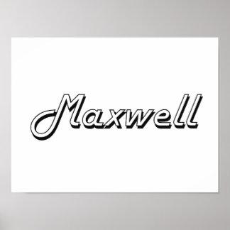 Diseño conocido retro clásico del maxwell póster