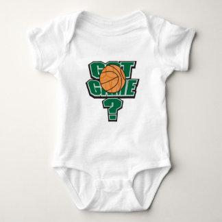 diseño conseguido del baloncesto del juego body para bebé