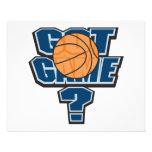 diseño conseguido del baloncesto del juego tarjetas informativas